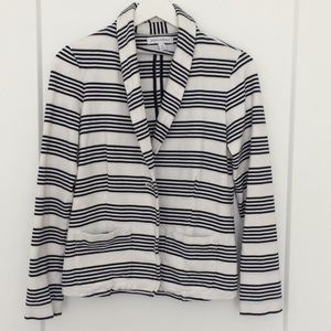 Banana Republic striped linen blazer